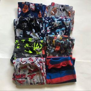 Bundle of Boys Size 8 Pajamas Gap/Carters/Up Late